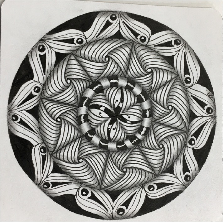 zentangle button